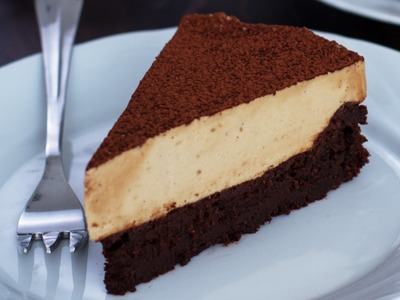 Flourless Chocolate Cake with Coffee Mousse Recipe