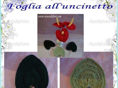 Foglia all'uncinetto -  Leaf crocheted