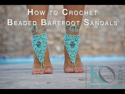 How to Crochet Barefoot Sandals