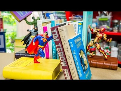 How To - DIY Action Figure Bookends - Home & Family
