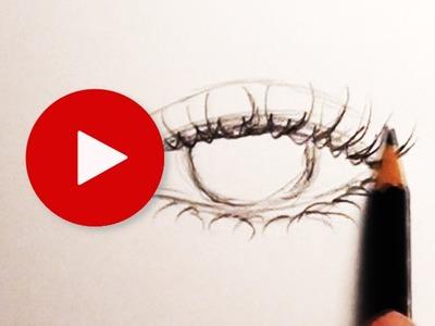 How to Draw Eyelashes     Tips & Tricks 11