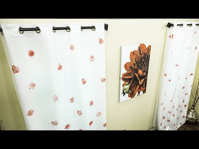 How To - Easy DIY Paint Stamped Curtains - Hallmark Channel