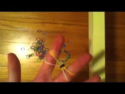 How to make a Inverted Fishtail rubber band bracelet without the loom