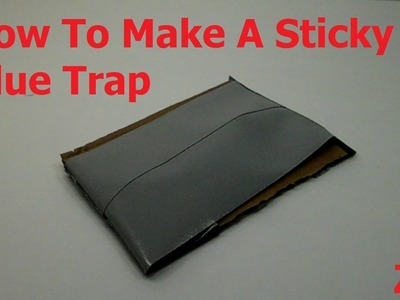 How To Make A Sticky Glue Trap For Pests And Insects