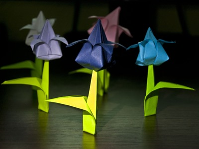 How to make an origami flower (tulip)