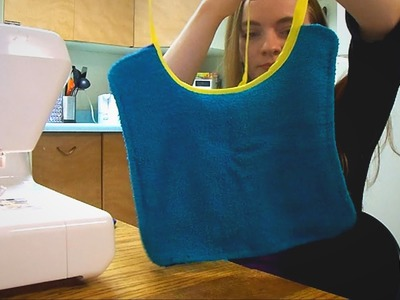 How to Make Bibs from Washcloths