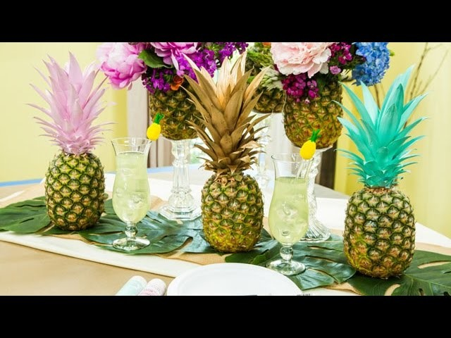 How To - Maria ProvenzanoÍs DIY Pineapple Tablescape - Hallmark Channel