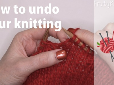How to undo your knitting