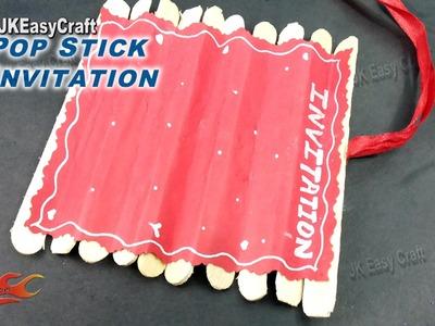 Ice Cream Stick. Popsicle stick invitation | How to make | JK Eeasy Craft 146