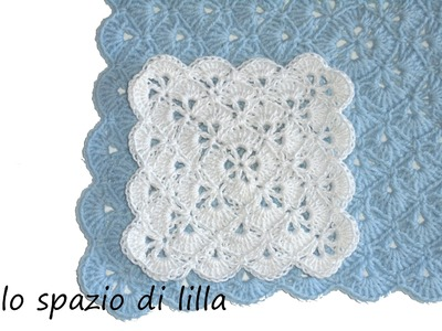 Lilla's tutorials: la piastrella crochet a ventaglietti. the crochet fan square