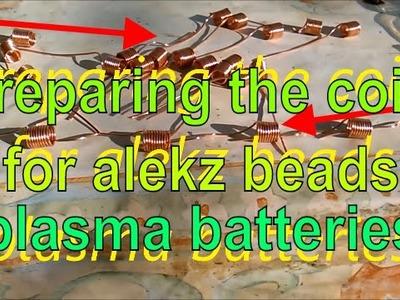 Making Coils For Alekz Beads - Plasma Batteries - Keshe Magrav Technology part 1