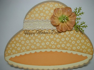 Mother's Day hat shaped card