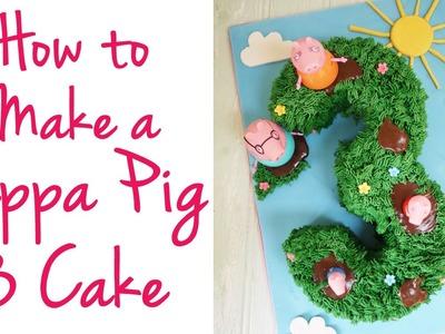 Peppa Pig Cake Tutorial | TamingTwins.com