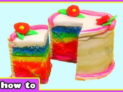 Play Doh Rainbow Cake - How To Make Play Doh Cake - Play Doh Creations By HooplaKidz How To