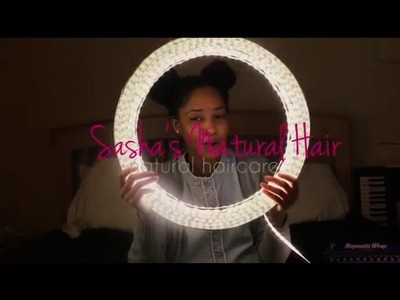 Quick, Easy, and Cheap Diy Ring Light for Under $25 (tutorial) |Sashasnaturalhair