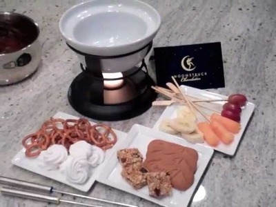 Recipe to make chocolate fondue at home by Moonstruck Chocolate