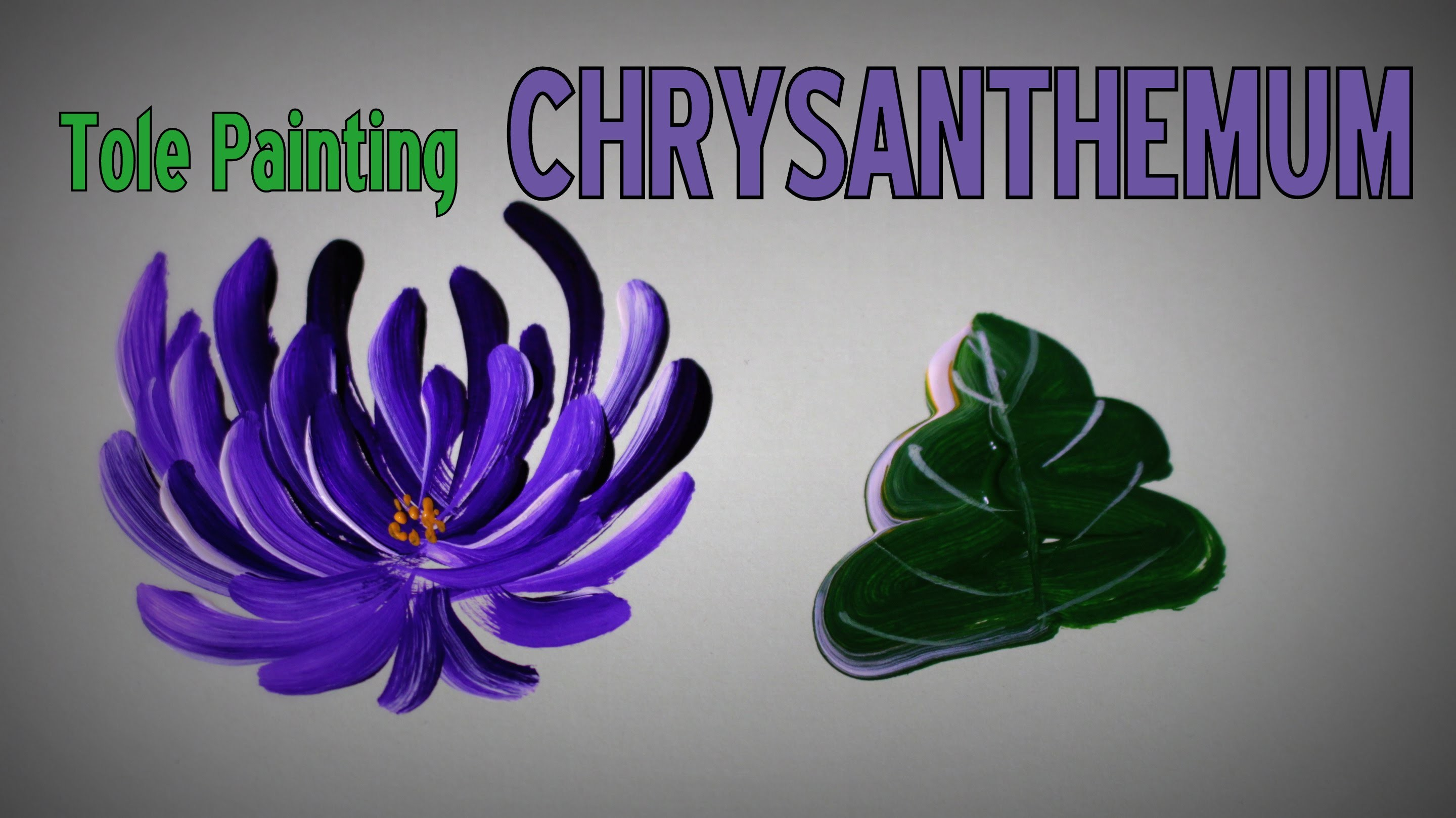 Tole Painting - How to paint a CHRYSANTHEMUM.