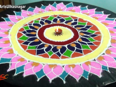 5 feet long sanskar bharati rangoli  | How to draw | JK Arts 957