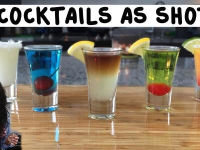 5 Popular Cocktails Made As Shots - Tipsy Bartender