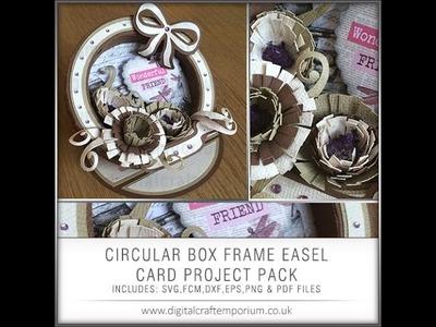 Circular Easel Box Frame Card