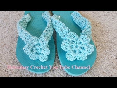 Crochet Deluxe Beach Bag Flower for Flip Flops and Shawl DIY Tutorial