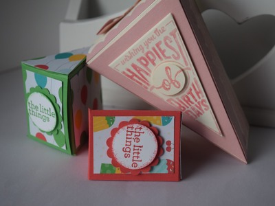 Cutie pie cake box and no die treat box