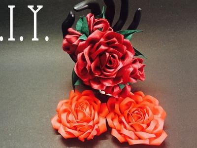 D.I.Y. Grosgrain Ribbon Rose