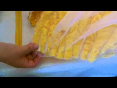 Disney Belle Gold Ball Gown skirt Tutorial Part 2 of 3
