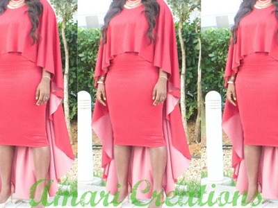 DIY: Cape. High Low Cape in 5 Minutes or Less.Amari Creations