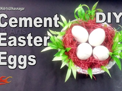 DIY Cement Easter Eggs | How to make | JK Arts 953