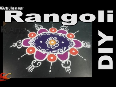 DIY Easy Colorful  Rangoli | Sand Art | How to make |  JK Arts 946