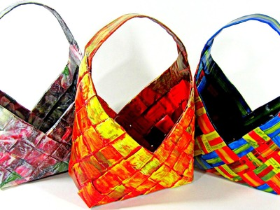 #DIY: How to make paper baskets. Cómo hacer cestas de papel.