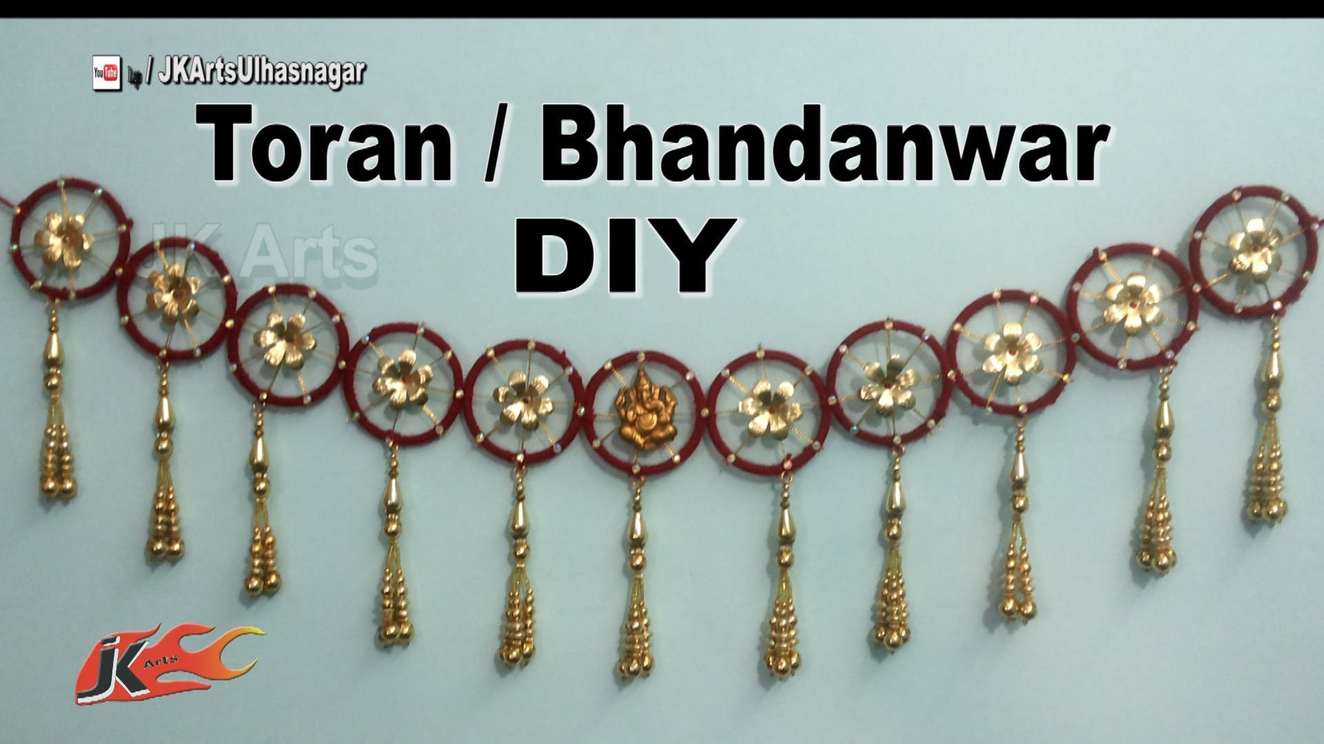 Diy toran bandhanwar from waste bangles how to make jk for Craft using waste bangles