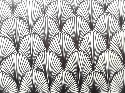 Freehand Space-filling Patterns 6: A repeating leaf design