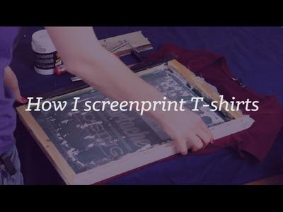 How I DIY screen-print T-shirts | CharliMarieTV