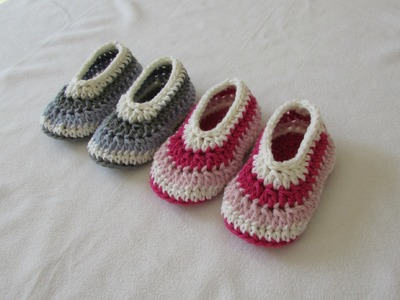How to crochet EASY children's shoes. booties for beginners