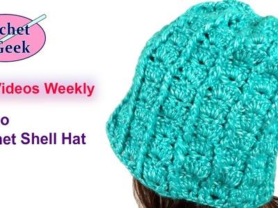 How to #Crochet Shell Hat #Crochetgeek Part 1