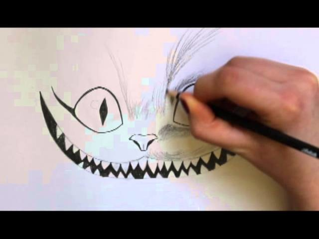 How to draw a cheshire cat