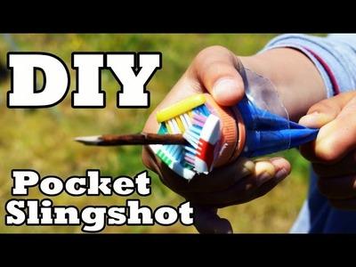 How To Make: Pocket Slingshot - (shoot arrows & bb's)