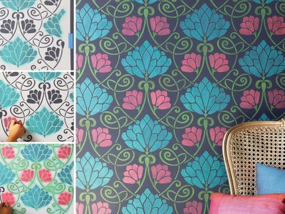 How to Stencil Easy Accent Wall DIY