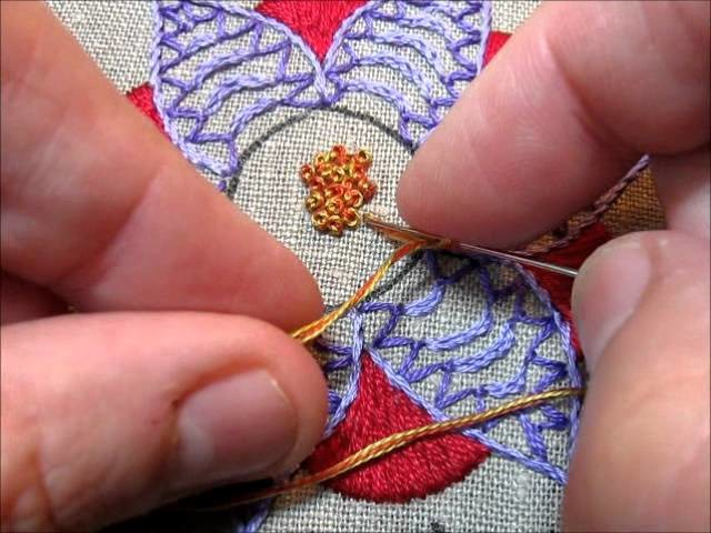 french knot youtube - 640×480