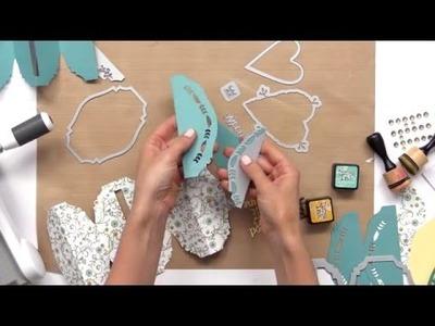 Make a Botanical Fold-a-Long Cards with Jen Long, Sizzix