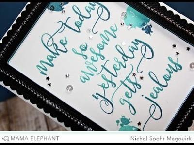 Mama Elephant | Calli Letters Card