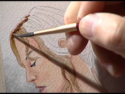 Painting a female figure 3. Figura femenina en acuarela 3.