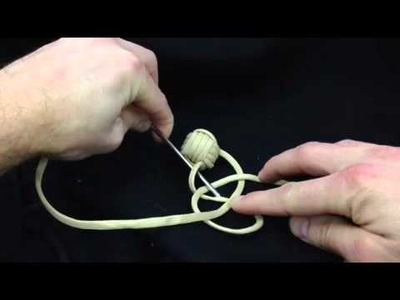 Paracordist how to tie a monkeys fist knot in hand - Part II of the quick release keychain bola