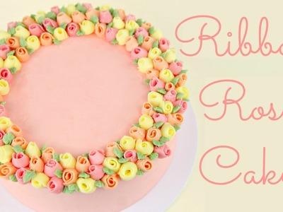 Ribbon Rose Buttercream Cake - COLLAB HANIELA'S AND CAKE STYLE