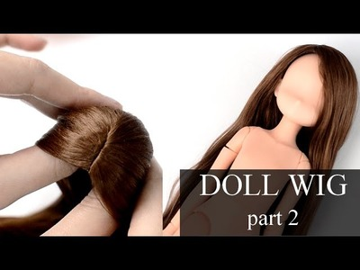 Self-adhesive DOLL WIG TUTORIAL - part 2 - GLUING THE HAIR