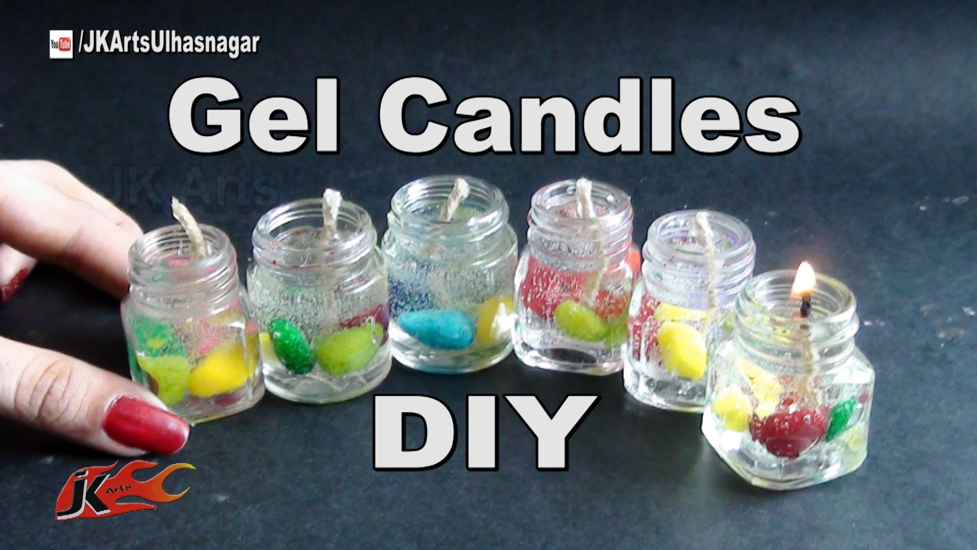 Small Gel Candles from waste bottles | How to make | JK Arts 956