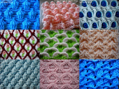 THE QUALITIES OF A COMPACT & COMPLEX CROCHET STITCH.  CUALIDADES DEL  CROCHET COMPACTO Y COMPLEJO