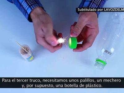 Trucos con botellas de plástico